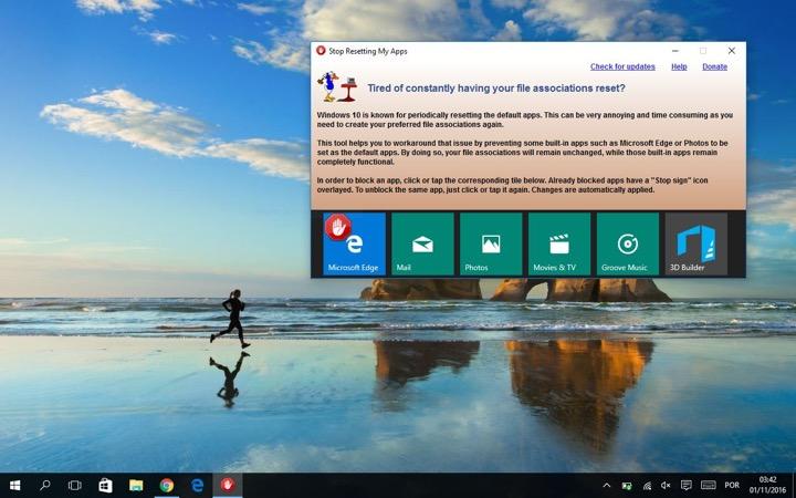 Stop Windows 10 Resetting Default Apps