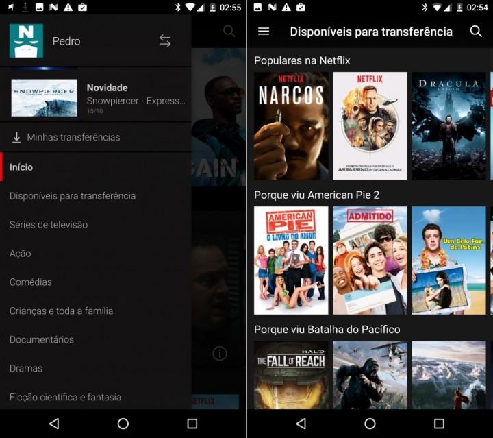 Netflix escolher offline