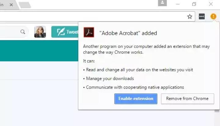 Adobe Reader instala extensão no Chrome para recolha de dados