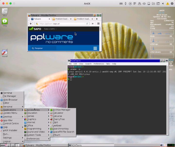 Linux antiX 16.1