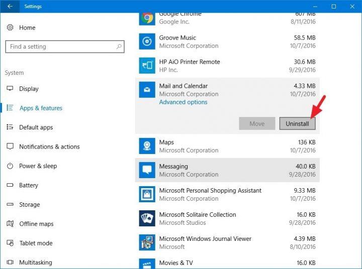 Já não é possível remover aplicações nativas do Windows 10
