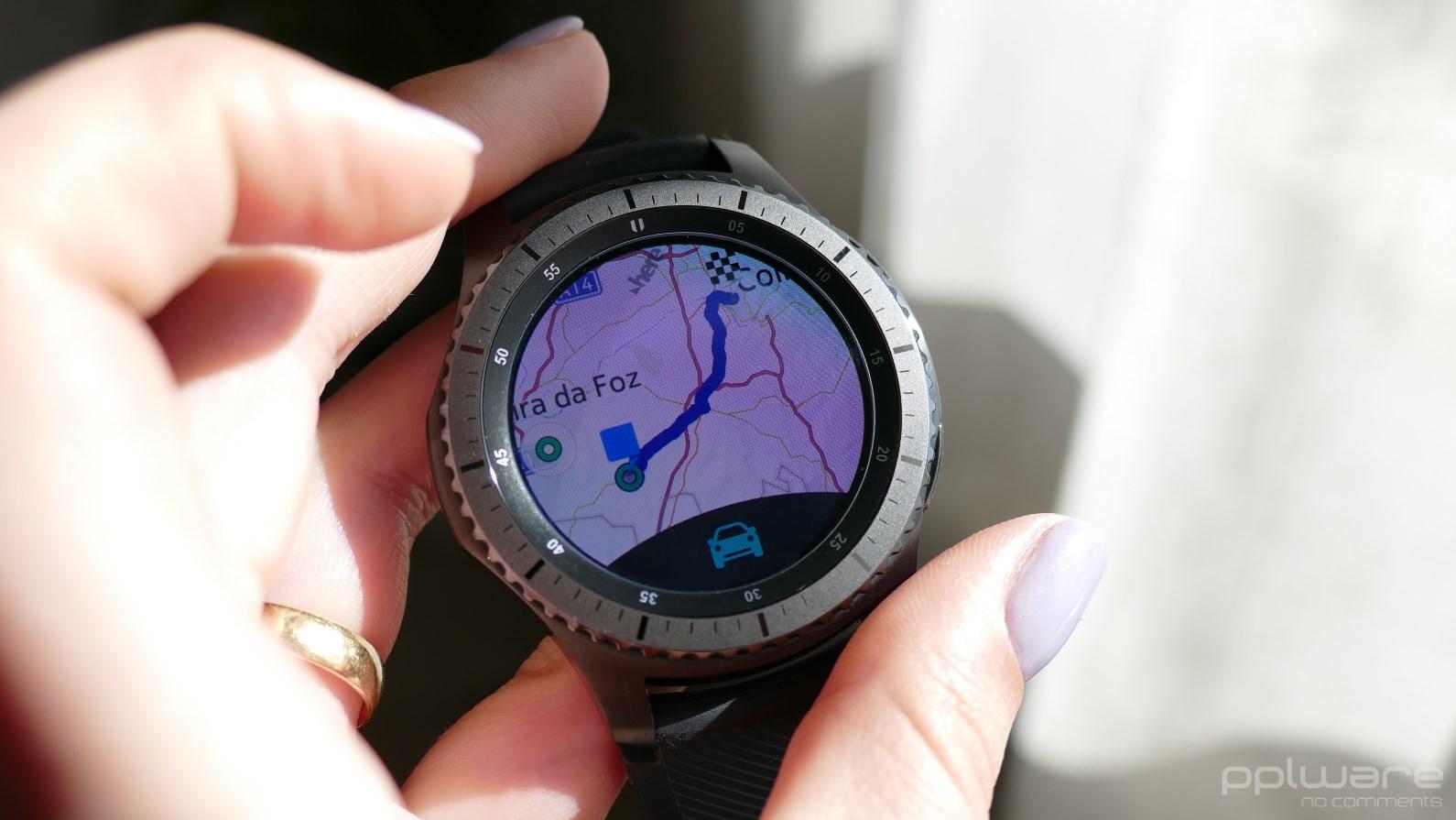 283768f3e17 ... é uma vantagem acrescida deste Samsung Gear S3 Frontier. Esta  funcionalidade permite ainda acionar os comandos de SOS