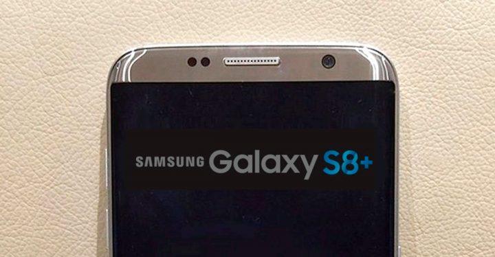 Imagem de um possível Galaxy S8+