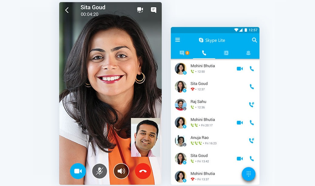 Microsoft lança Skype Lite para Android na Índia