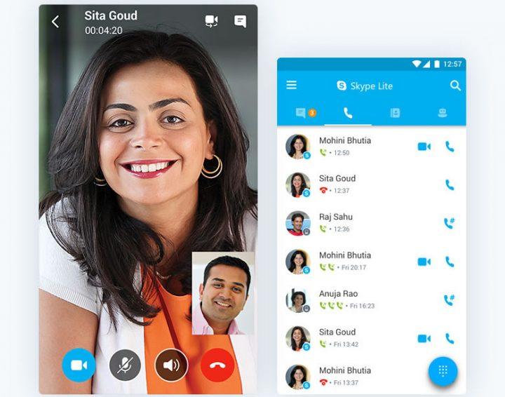 Skype Lite a ser usado na índia
