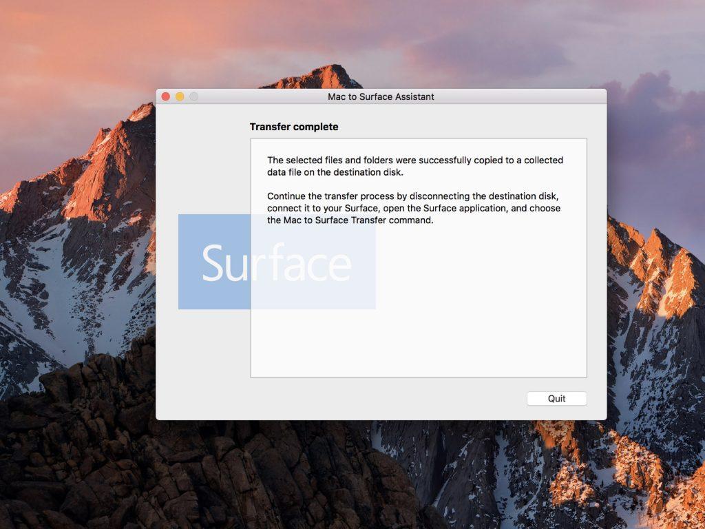 Migrar Mac para Surface