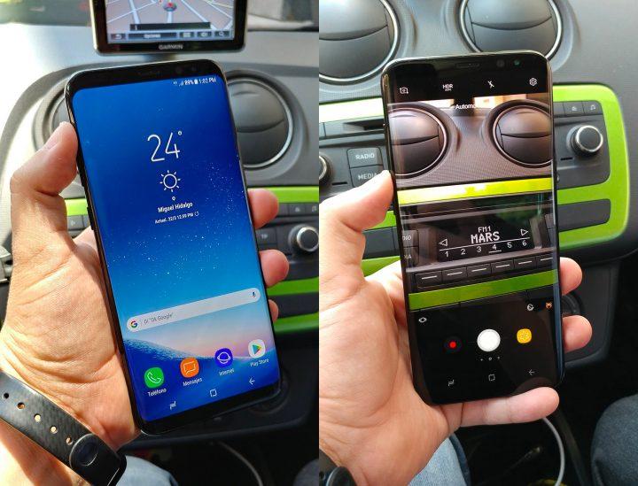 Imagens do ecrã e câmara do Galaxy S8+
