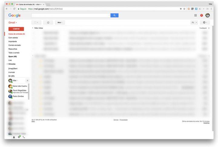 Agora podemos receber atalhos com 50MB no Gmail