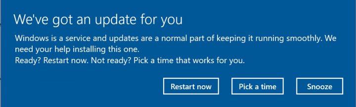Windows 10 alerta atualização