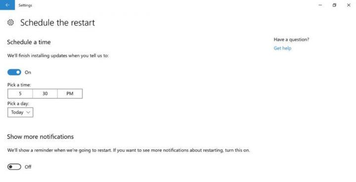 Windows 10 definições atualização