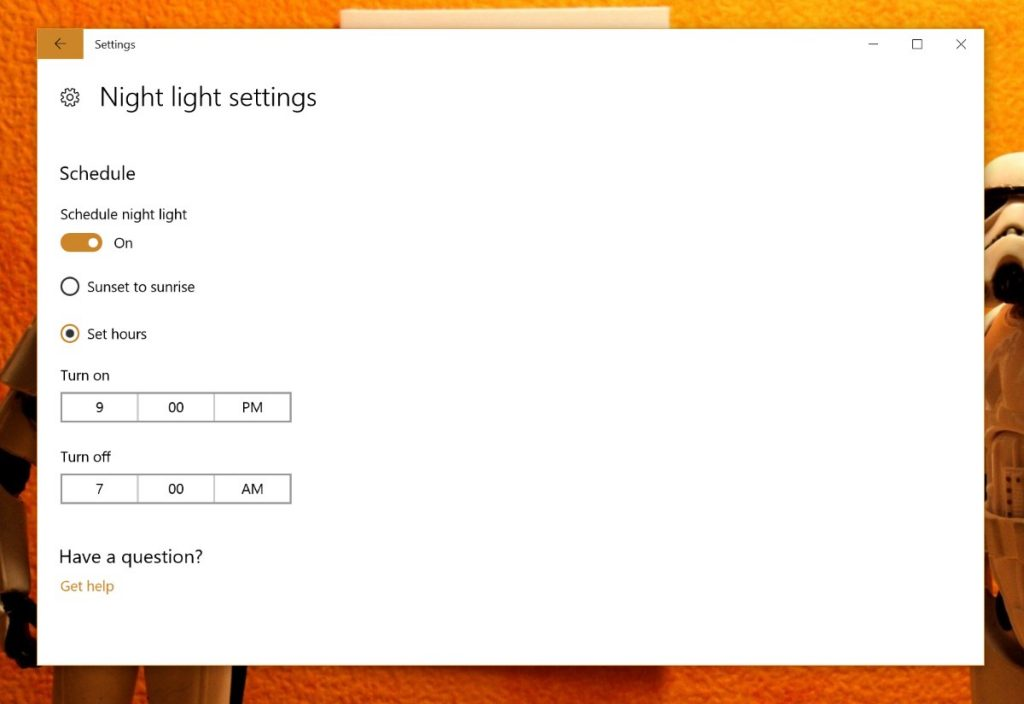 Night Light Windows 10 Horário
