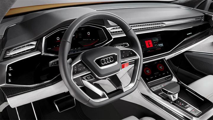 Conceito do Audi Q8 Sport equipado com a nova versão do Android Auto