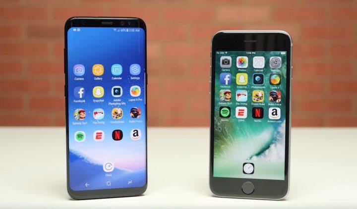 Comparação iPhone 6s vs Galaxy S8