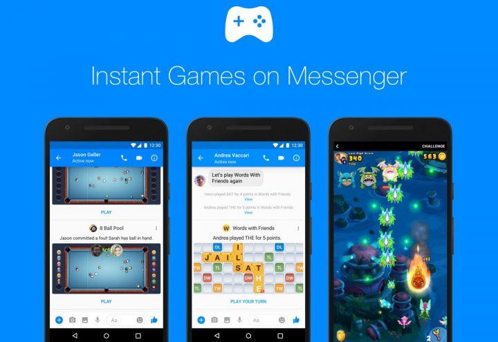 Jogos Facebook Messenger
