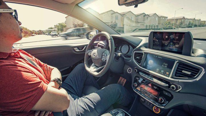 teste ao carro autónomo Hyundai