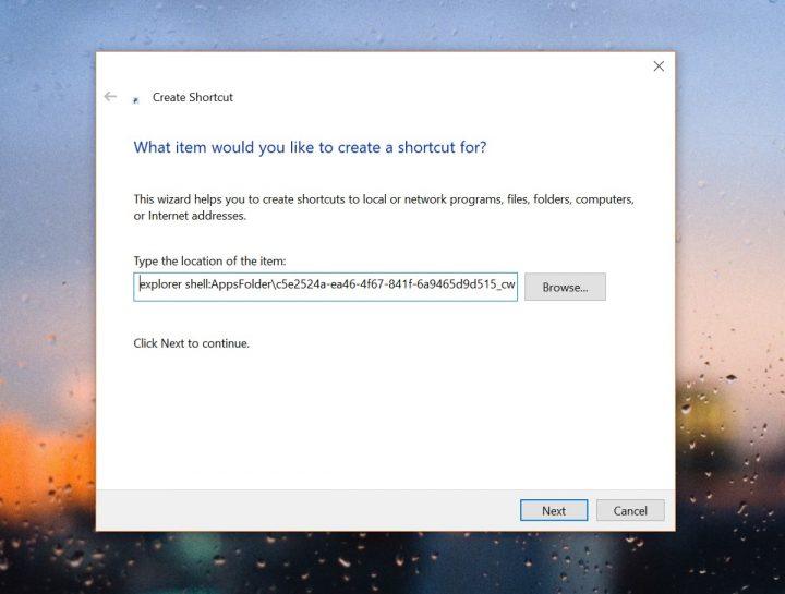 Windows 10 atalho