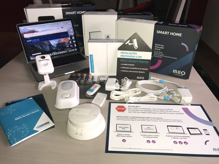 Imagem do kit Meo Smart Home