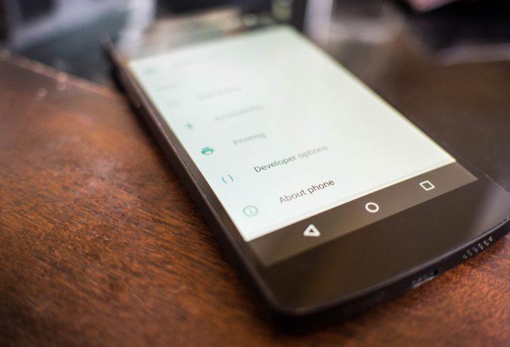 Opções de Programador Android