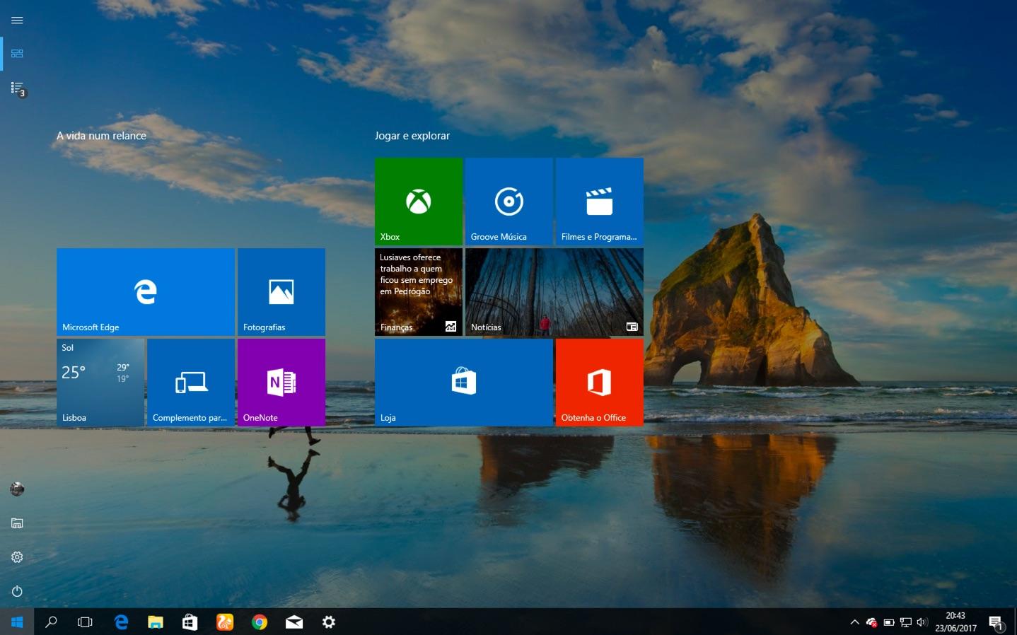 Dica Windows 10: Com ter o menu iniciar em ecrã inteiro?