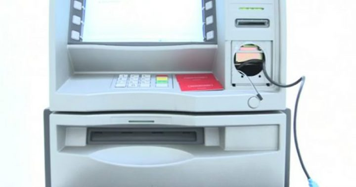 Imagem ATM perfurada e cabo UCB acessível