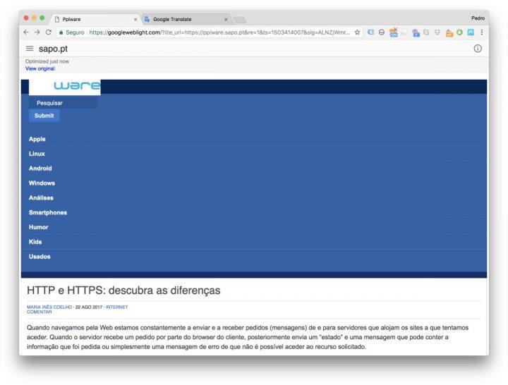 Google Weblight Internet