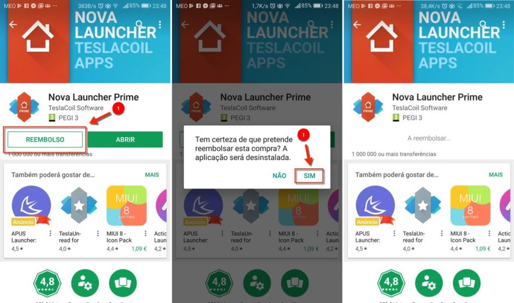 Play Store reembolso