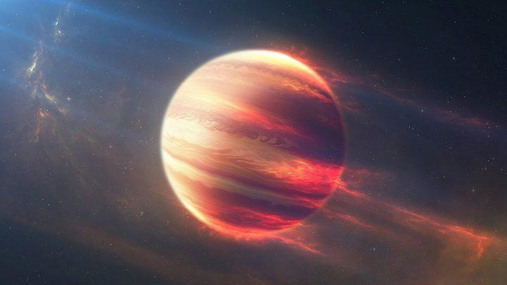 Ilustração de um planeta impossível