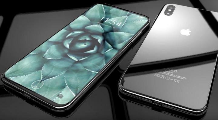 Imagem do aspeto do hipotético iPhone 8 com nova patente