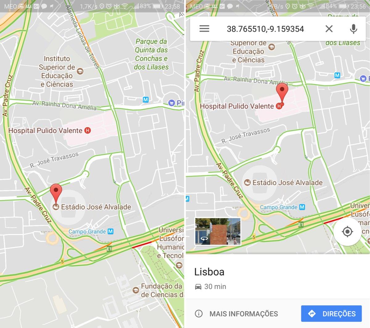 aprenda a medir dist ncias no google maps do android pplware. Black Bedroom Furniture Sets. Home Design Ideas