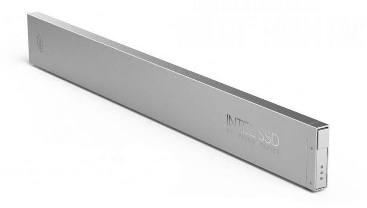Novo formato em régua de armazenamento SSD lançado pela Intel