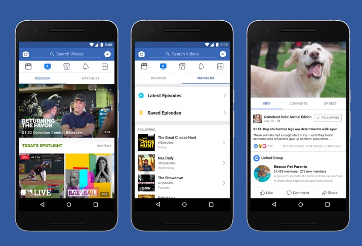 Com Watch, Facebook parte para a briga com You Tube e Netflix
