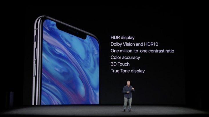 iPhone X - ecra