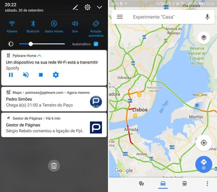 Google Maps partilha viagem