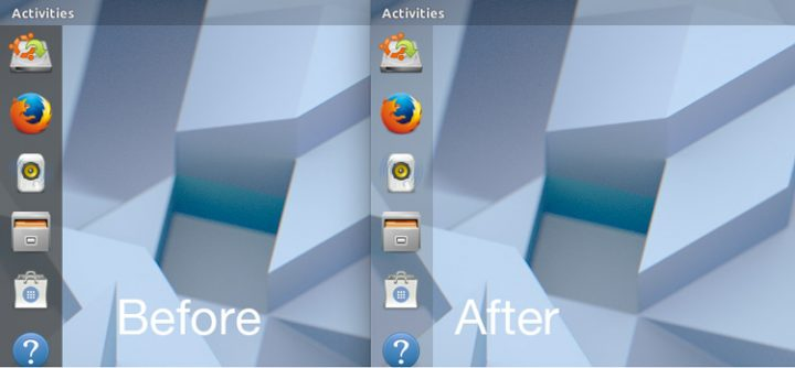 nova dock do Ubuntu