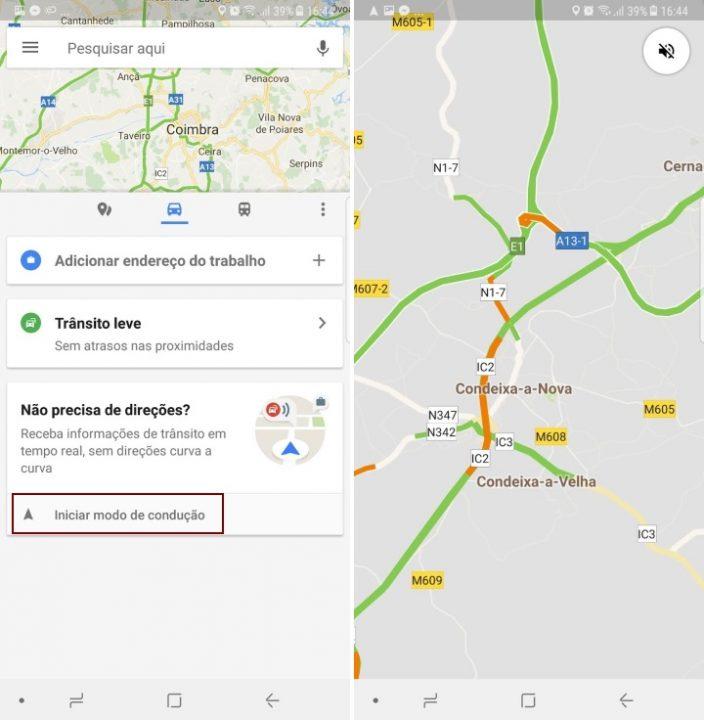 Google Maps - condução