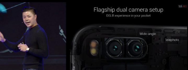 Câmara dupla do Xiaomi Mi A1