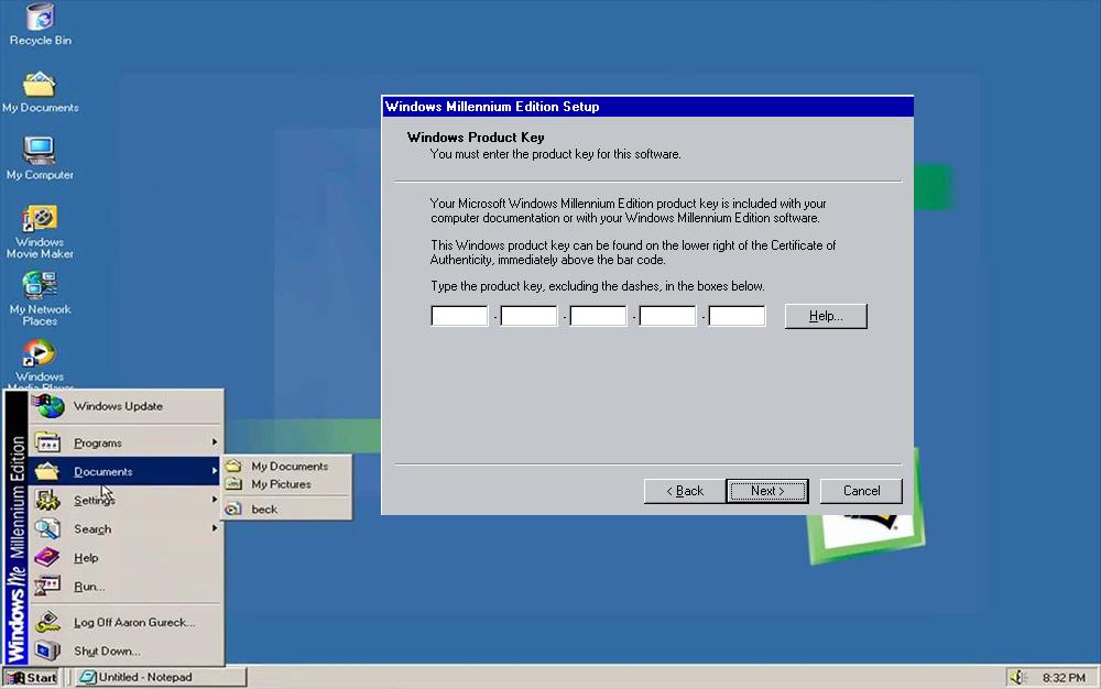 Windows pirata que resultou no leilão