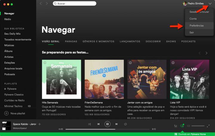 Spotify arranque