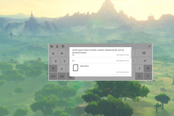 Windows 10 clipboard cloud