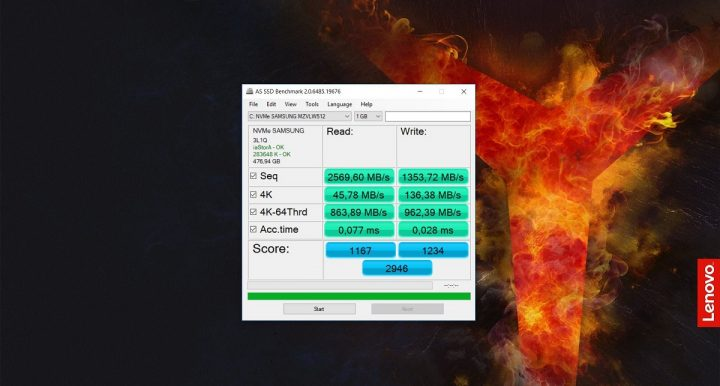 lenovo legion y520 - AS SSD Benchmark