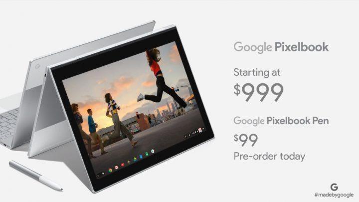 Google Pixelbook portátil da família Chromebook