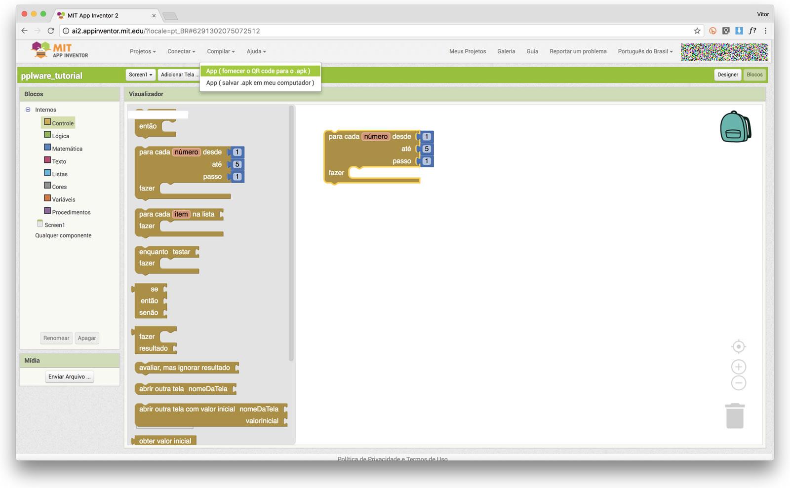 App Inventor 2 - Faça uma aplicação de forma simples