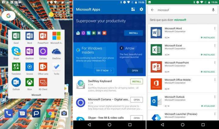 Windows 10 Mobile Android