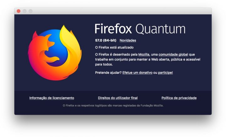 Chegou o Firefox Quantum, veio para derrubar o Chrome.