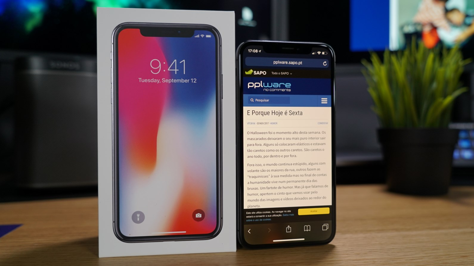 bf2a135ad Unboxing - Apple iPhone X - Pplware