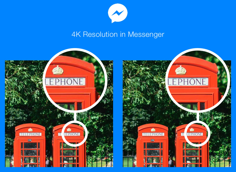 Já pode mandar fotos com maior resolução — Facebook Messenger