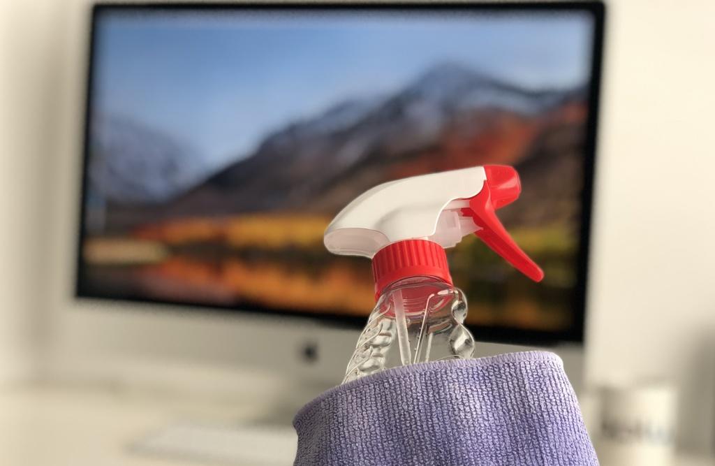 Foto da hora da manutenção do Mac