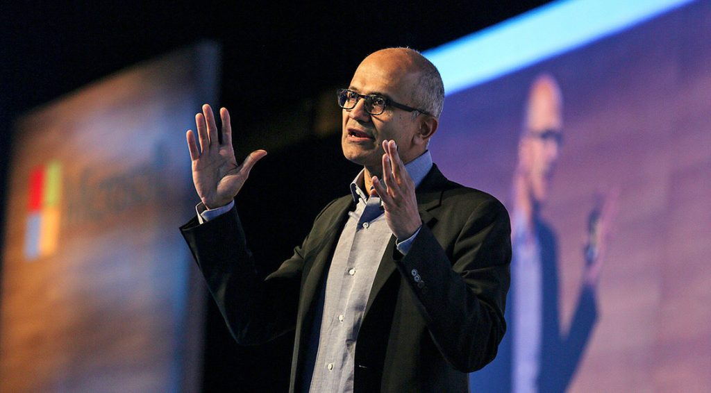 Foto do CEO da Microsoft