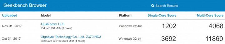 snapdragon 835 - windows 10 - ARM