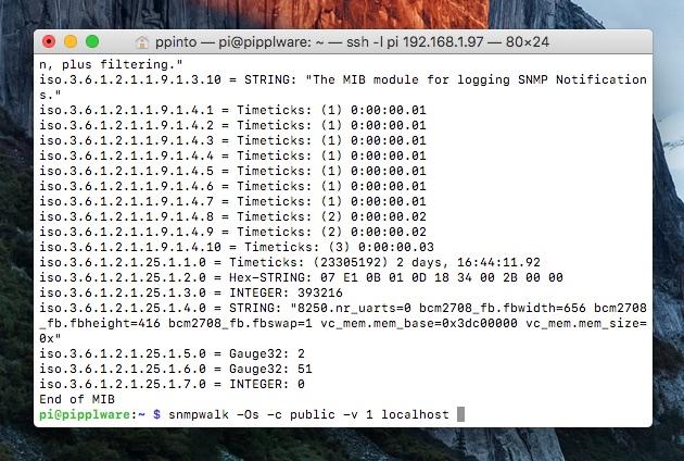 como instalar o snmp no raspberry pi